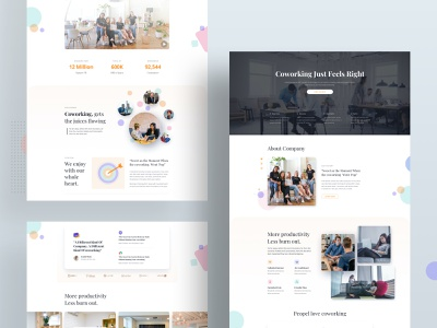 Coworking Space Layouts for SP Page Builder Pro template design layout pack trendy minimal page builder joomla product design modern layout web interface web layout template office space rent office coworking