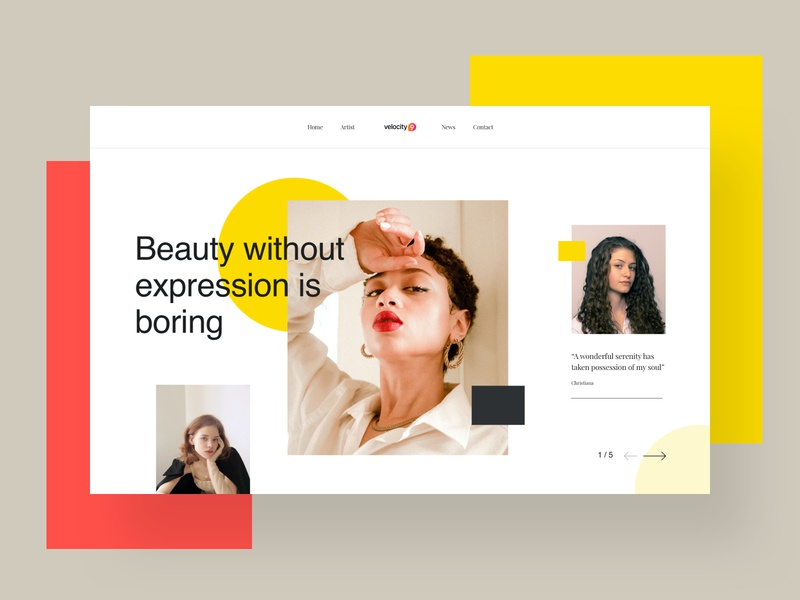Header Design imagery model fashion layout banners creative web header header banner typography ui trendy colorful minimal