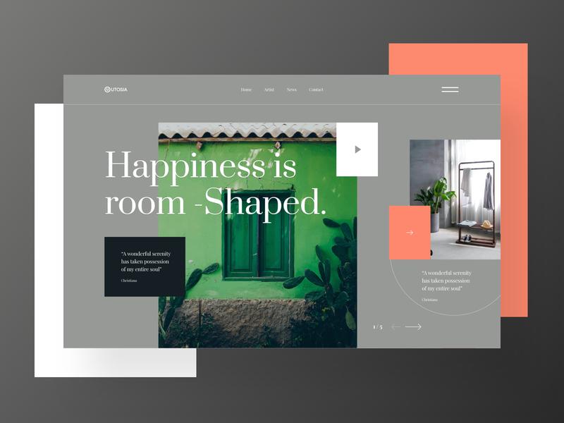 Header Design imagery website banner web header free banner header banner mockup gradient typography ui trendy colorful minimal
