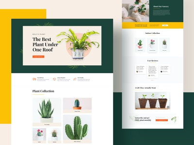 Plant Shop/Nursery Layouts for SP Page Builder Pro web modern page builder joomla mockup webdesign product design template webui layout plant shop shop plant nursery