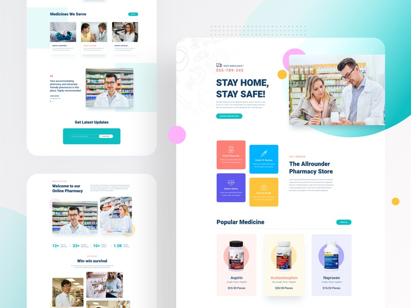 Pharmacy Layout Bundle for SP Page Builder Pro drug medical shop template joomla doctor header website ui userinterface homepage web medicine web medical medicine webui pharmacy