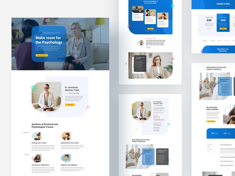 Psychiatrist: A Free Layout Bundle for SP Page Builder Pro template trending product design website layout psychiatry psychologist psychology doctor psychiatrist