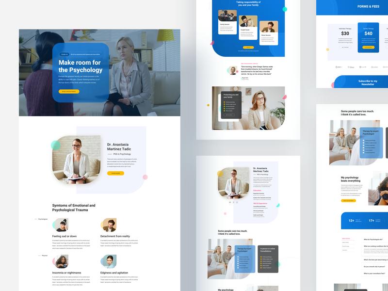 Psychiatrist: A Free Layout Bundle for SP Page Builder Pro template trending product design website layout psychiatry psychologist psychology doctor psychiatrist