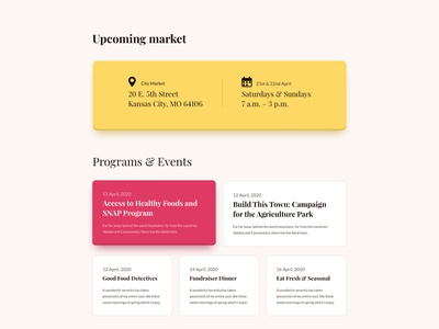 Farmers' Market Layouts for SP Page Builder Pro web mockup website product design uiux page builder web layout webui colorful minimal illustration agro business market farmers agriculture