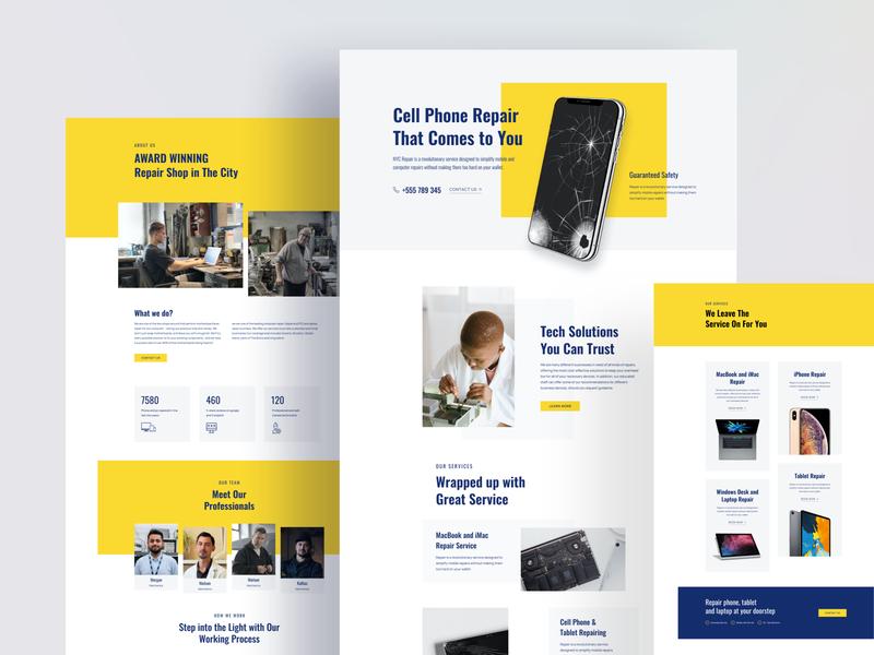 Gadget Repair Layouts for SP Page Builder Pro repair service web layouts template web webui gadgets phone repair laptop repair