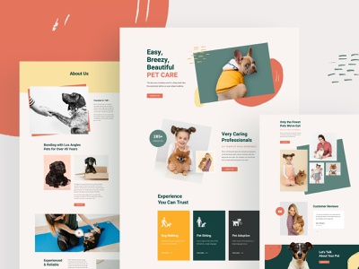 Pet Care Layouts for SP Page Builder Pro minimal layouts template webui veterinary clinic pet adoption pet store animals pets pet shop pet care