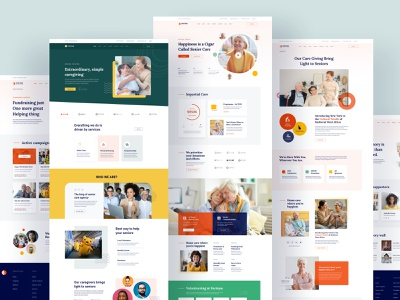 Fortune - Elderly Care Joomla Template minimal trendy webmockup senior care senior living care agency old age donation nursing home webui charity care seniors elderly care