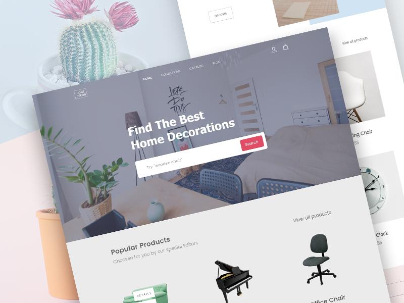Home Decor Furniture Website Design