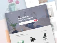 Home Decor | Furniture website design
