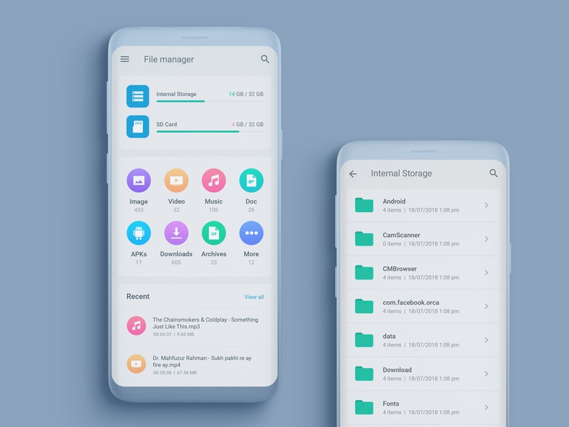 File Manager UI Design by Ahmed Manna on Dribbble