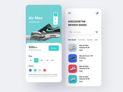 Shoes Store iOS App Design