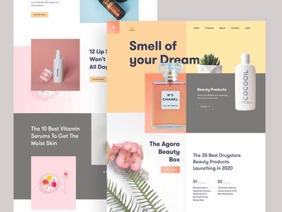 Beauty Products Website UI (Exploration)