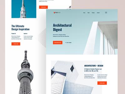 Architecture Firm Website UI (Concept)