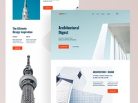 Architecture Firm Website UI (Concept)