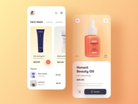 E-commerce app for beauty products