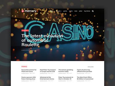 New Header for Mercury Theme gambling theme magazine newspaper news casino wordpress mercury