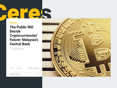 Cryptocurrency News WordPress Theme online media ceres magazine article bitcoin crypto theme wordpress news cryptocurrency