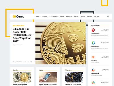 Ceres WordPress Theme ico news blockchain cryptocurrency bitcoin theme wordpress ceres