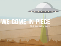 We Come In piece Mailer Graphic