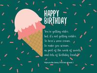 Week of Birthday Treats - Day 1