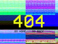 Glitch 404 Page