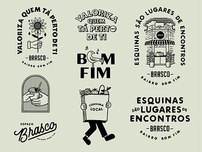 Mercado Brasco bakery lettering art illustration lettering