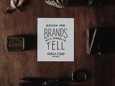 Guasca Studio Co. branding design lettering