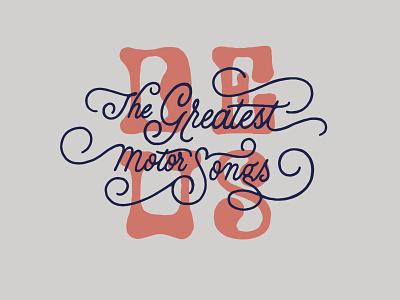 The Greatest Motor Songs deus ex machina lettering art design lettering