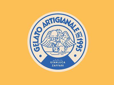 Gianluca Zaffari lion logo icecream gelato typography lettering art illustration design lettering