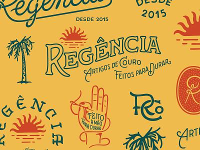 Brand system for Regência Co. brandsystem illustration monogram design logo lettering art typography lettering
