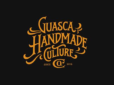 Guasca Handmadeco illustration lettering typography logo lettering art design