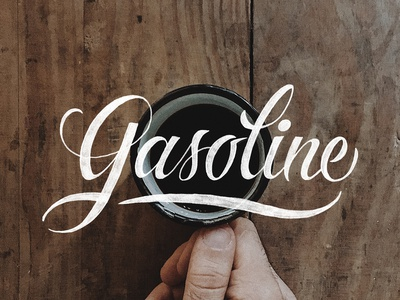 Gasoline coffee design typography lettering