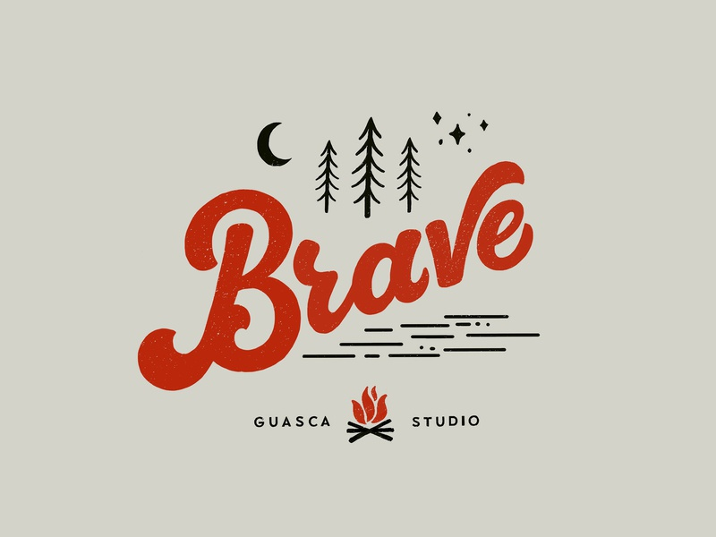 Brave wild design lettering art typography lettering