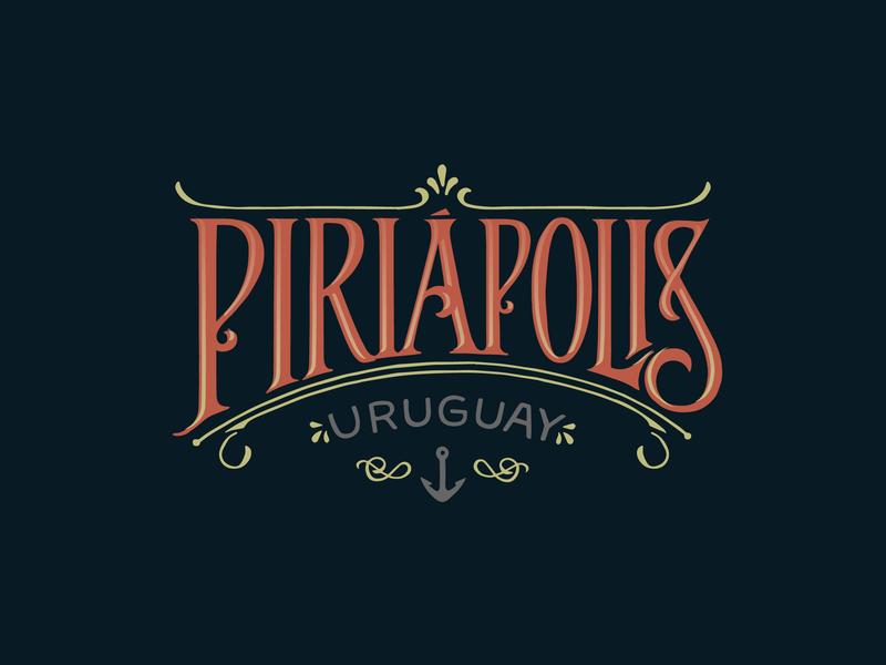 Piriápolis design logo lettering art typography lettering