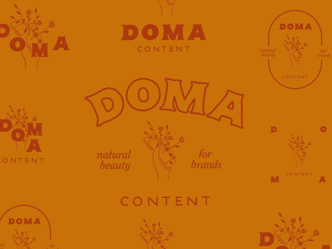 Doma branding illustration design lettering