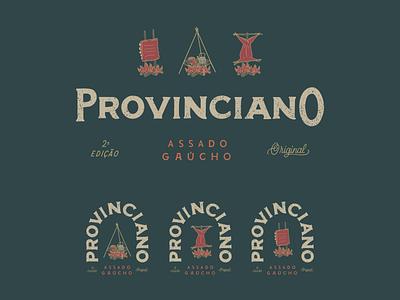 Assado Provinciano barbecue lettering art logo illustration typography design lettering