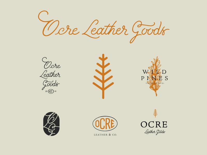 Ocre Final wild branding logo design lettering