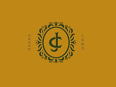 Cabanha Jobim lettering monogram branding logo design