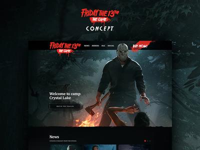 Friday The 13th Game website ui design web ui friday the 13th web design concept game ui web