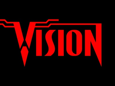 Vision Wordmark mind techy tech synthezoid avenger avengers superhero hero typography type masthead marvelcomics comicbook comic wandavision vision marvel mcu wordmark red