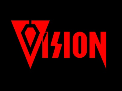 Vision Wordmark Concept techy tech syntheoid hero superhero mind red masthead typography type wordmark wandavision vision mcu avengers avenger marvelcomics marvel
