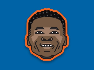 NBA Emoji Series - Westbrook thunder okc city oklahoma nba illustration emoji basketball westbrook russell