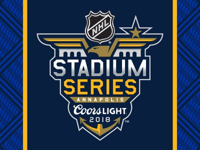 2018 NHL Stadium Series Identity sports outdoors maryland annapolis silver gold navy blue star wings eagle academy naval navy series stadium hockey nhl logo
