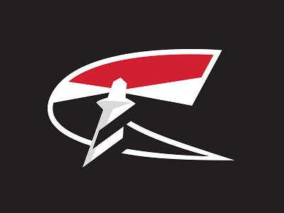 Carolina Hurricanes Secondary Logo Concept athletic logo athletic nhl hockey type lighthouse c black white red italic bold crest logo sports logo sportsbranding sports raleigh hurricanes carolina