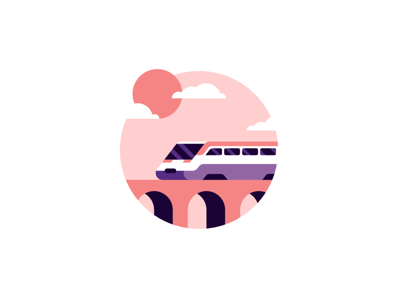 Train minimalist design flat illustrator illustration train