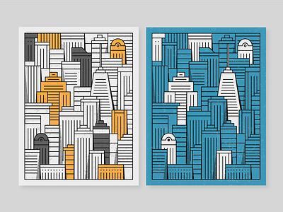 Skylines Illustrations skylines city poster minimalist vector flat illustration design