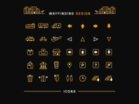 Wayfinding / Navigation Icon Set
