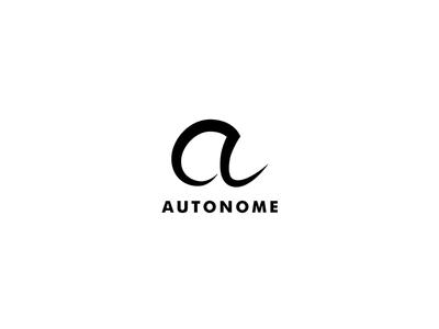Autonome a sharp futuristic technology letter alphabet