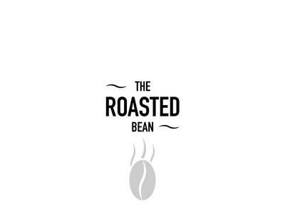 The Roasted Bean branding logo restaurant food cafeteria cafe coffee bean coffee