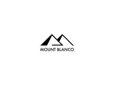 Mount Blanco logo minimal monogram mb skiing ski hill mountain mount